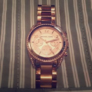 Michael Kors Rose gold watch for $150